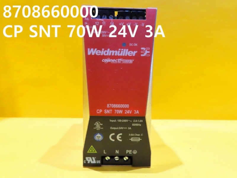 WEIDMULLER 8708660000 CP SNT 70W 24V 3A 중고SMPS